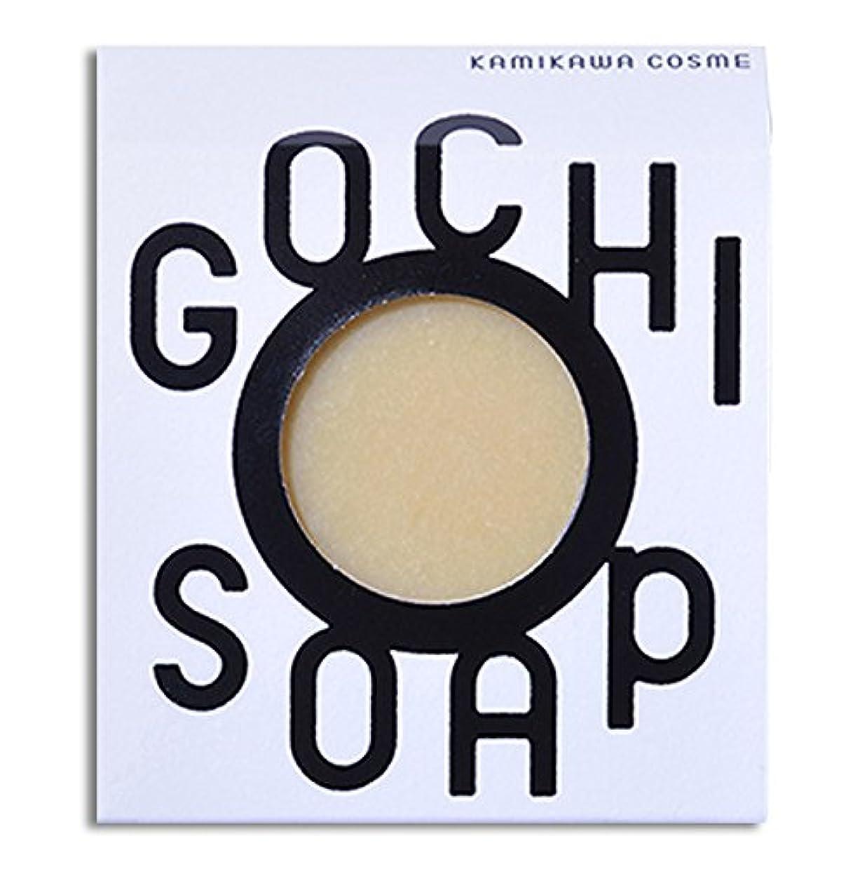 微弱手書き水族館道北の素材を使用したコスメブランド GOCHI SOAP(山路養蜂園の蜂蜜ソープ?ふじくらますも果樹園のりんごソープ)各1個セット
