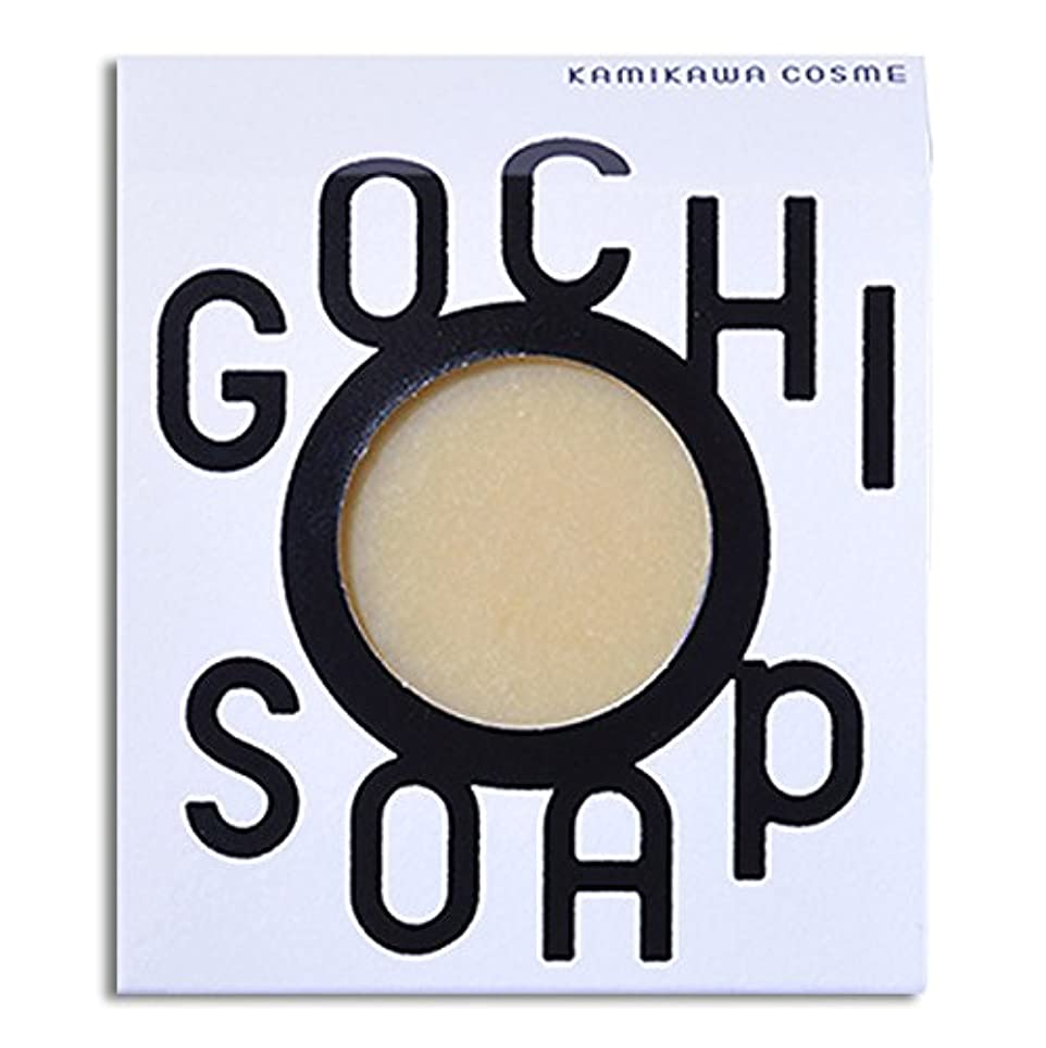 斧意図チロ道北の素材を使用したコスメブランド GOCHI SOAP(山路養蜂園の蜂蜜ソープ?ふじくらますも果樹園のりんごソープ)各1個セット