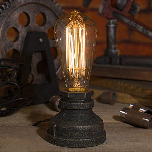 Venus 産業のランプ ビンテージ エジソン E27 電気スタンド 室内装飾 モダンアンティーク 電球は含まれていません(iron)