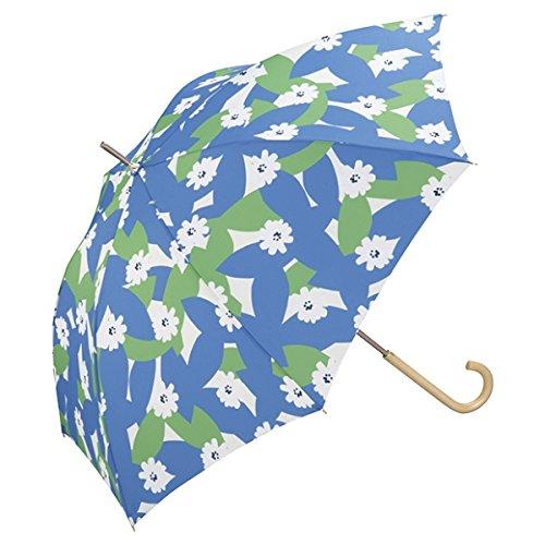 w.p.c(w.p.c) 【長傘】リーフィー/軽くて丈夫で持ちやすい(レディース雨傘)【ブルー/58】