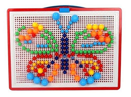 ペグボード パズル 玩具 知具 ペグ (ペグ 296個)...