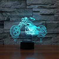 WZYMNYD Ledオートバイ錯覚ledナイトライト3dオートバイモデルテーブルランプ7色変更雰囲気タッチランプ現代の装飾