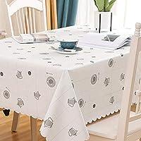 ZXT北欧長方形ダイニングテーブルクロス植物花PVCテーブルクロス防水と油防止布アートコーヒーテーブルのテーブル装飾は屋内と屋外の多目的テーブルクロスに適用されます (Color : E, Size : 135*180CM)