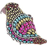 Fawziya Parrot Crystal Clutch Purses And Handbags For Women Evening Bag