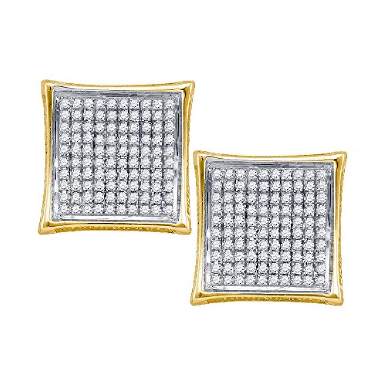 乳製品犯罪告発0.50 CTダイヤモンドmicro-paveメンズイヤリング