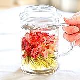 母の日 ギフト カーネーション の 花咲く工芸茶5種と耐熱茶こし付きマグカップ いやしセット(母の日ラッピング)