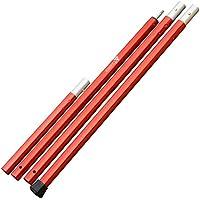ザキャンパー アルミポール 長さ 120~210cm (60cm×3節+30cm 1節) 直径28mm 赤 RED
