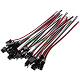 Doxuda 10 Pairs/set 3 Pin JST SM Male Female Plug Connector Cable For WS2812B WS2812 WS2811 LED Strip Lamp