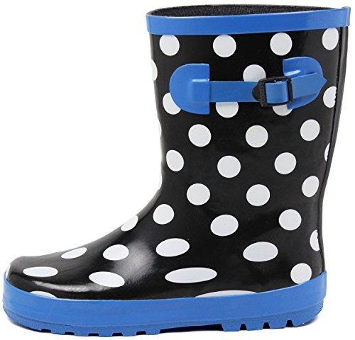 (セレブル) Celeble レインブーツ キッズ 女の子 男の子 ジュニア 長靴 雪 子供靴 ブラックドット 21.0