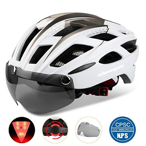 Shinmax 自転車ヘルメット LEDライト付きサイクルヘルメット B07G6Y7SP5 1枚目