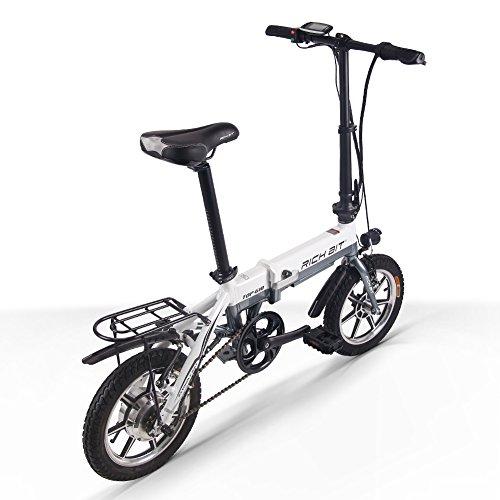 RICH BIT 618 電動アシスト自転車 14インチ 折りたたみ 36V*10.2AH/8AH 法律に合う 公道で走れます ミニ自転車 アルミ合金フレーム 泥除け付け 4色