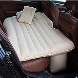 車中泊ベッド エアーマット エアーベッド 車載用マット 付き 車載用マット インフレータブルマットレス 分離可能な SUV車用ベッド(ベージュ)