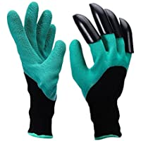 LANHAI ガーデングローブ 園芸用手袋 爪付き 植栽手袋 ガーデニング用手袋 防水作業用 園芸用具 掘りと植栽 耐久性がある高品質の素材 (右爪 1ペア)
