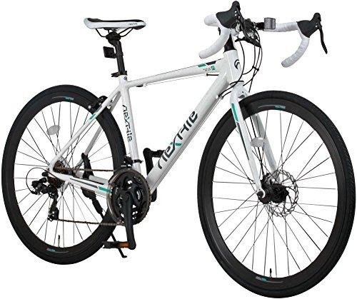 NEX TYLE (ネクスタイル) ロードバイク シマノ製21段変速 RNX-7021DC ディスクブレーキ (アルミフレーム 男性 女性 ) (ホワイト)