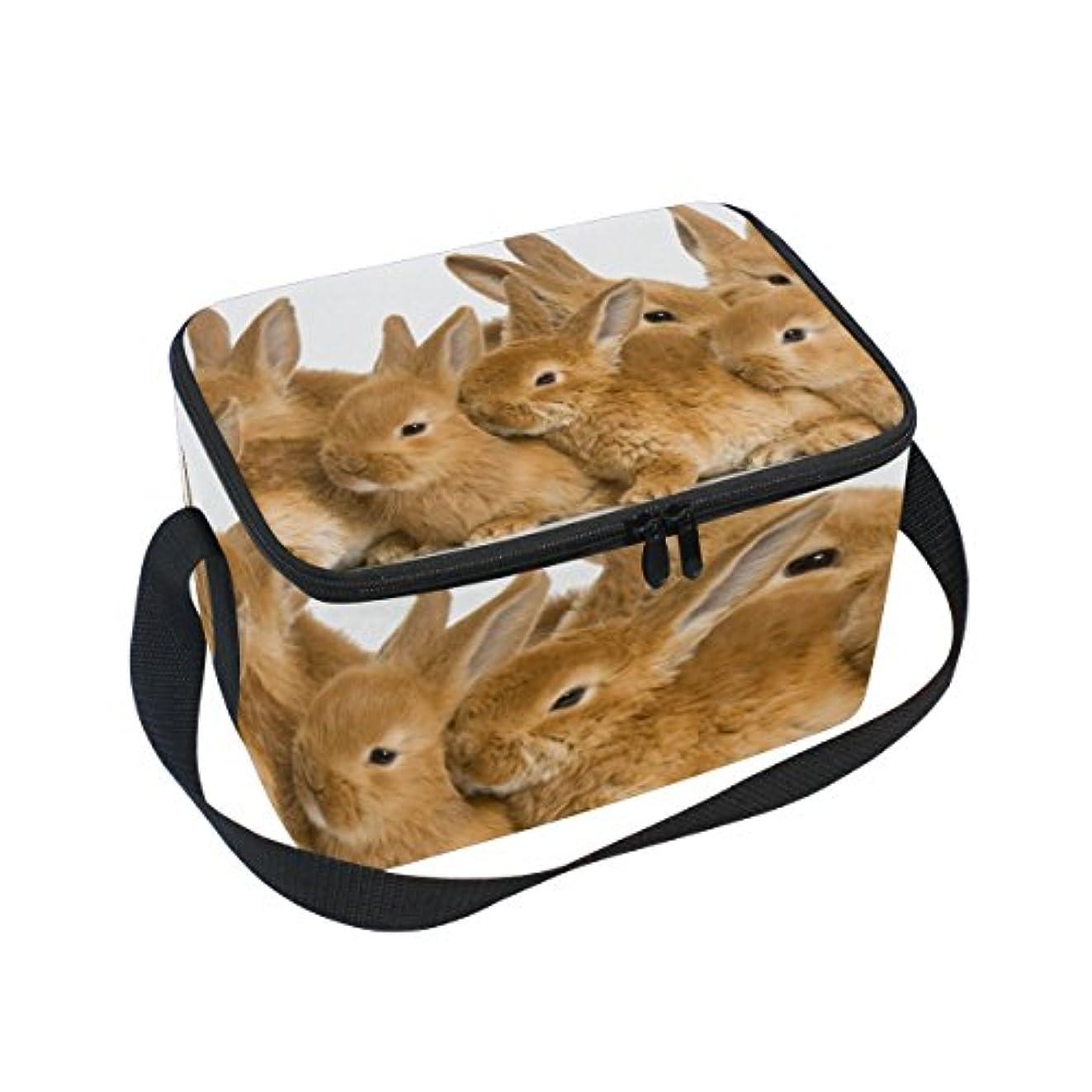 贅沢キルトポインタTsky うさぎ 動物柄 (4) クーラーバッグ 弁当袋 保温保冷 折りたたみ可 軽量 6L