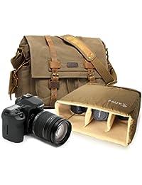 デジタル一眼レフカメラのショルダーバッグ 多機能キャンバスバッグ バックパック 5色選択可能