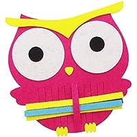 fityle 2パック早期教育モンテッソーリニット織り子供の創造性DIYフェルトToy Owl Shaped