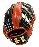 Hi-GOLD(ハイゴールド) M号球対応 軟式用グラブ 己極(おのれきわめ)シリーズ 二塁手・遊撃手用 OKG-736SP ブラック×Fオレンジ LH(右投用)サイズ: C-3
