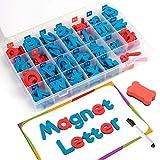 D-FantiX マグネット アルファベット 大文字 小文字 冷蔵庫マグネット EVA製 教室 知育 学習 玩具 磁気文字 キット 208pcs magnetic letters マグネットボード付き
