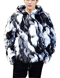 d20835d4a671d Lisa Pulster ファーコート メンズ フェイク 毛皮コート ファーパーカー メンズ ...