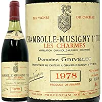 1978 シャンボール ミュジニー プルミエ クリュ レ シャルム グリヴレ 赤ワイン 古酒 辛口 750ml Grivelet Chambolle Musigny 1er Cru Les Charmes
