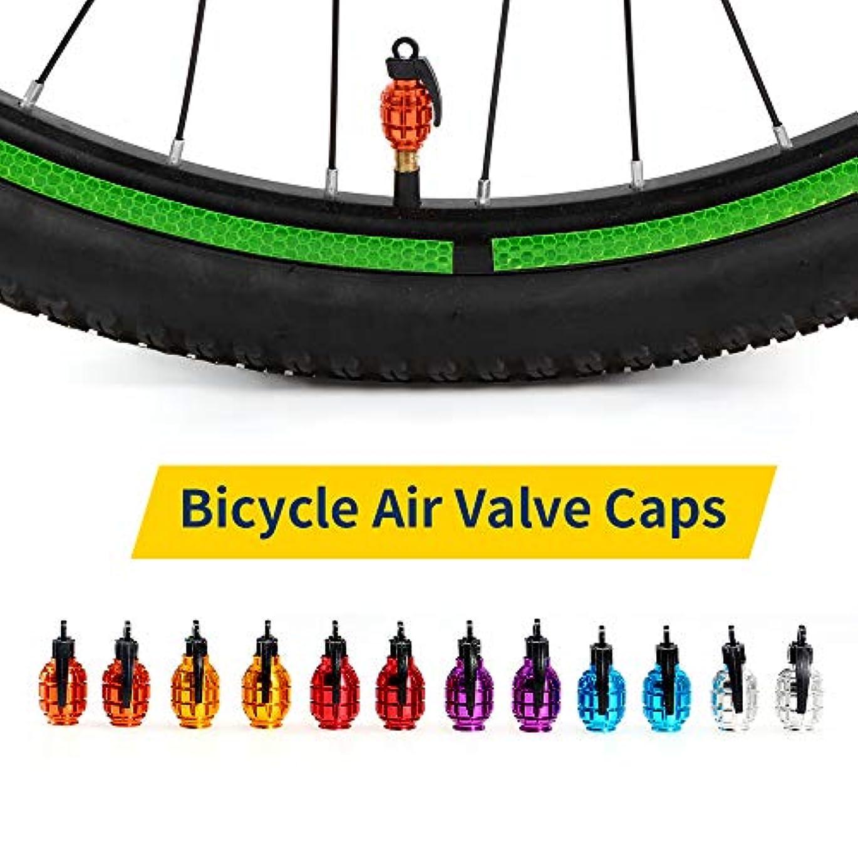 パノラマはぁネストRakuby MTBロード バイクオートバイ 自転車アクセサリー ため 2個 自転車バル ブキャップ空気バル ブキャップタイヤバル ブダストカバー