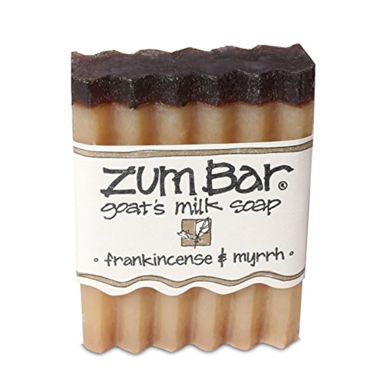 蒸上院議員シャイ海外直送品 Indigo Wild, Zum Bar, Goat's ミルク ソープ フランキンセンス&ミルラ, 3 Ounces (2個セット) (Frankincense & Myrrh) [並行輸入品]