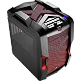 AeroCool MicroATX/MiniITX Gaming Chassis with USB3.0 and Fan Controller Cases StrikeX Cube-RED Black and Red [並行輸入品]