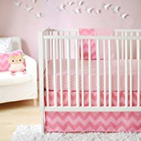 New Arrivals Zig Zag Baby 2 Piece Crib Bedding Set, Pink by New Arrivals