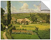 ArtWall Camille Pissarro's Paysage Aux Patis Pointoise 1868 Removable Wall Art Mural, 36 x 48 [並行輸入品]