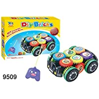 Interlocking Gears Toy Playset - DIY Bricks Electronic Building Gears Car Set 26 pieces with Wireless Remote [並行輸入品]