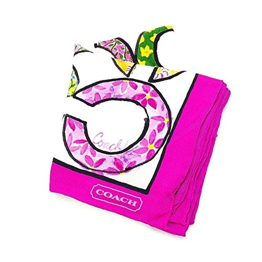 菊バウンドペインティング[コーチ] COACH スカーフ レディース シグネチャー 中古 美品 Y2941