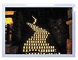 【DXポスター】安永新一のポスター フレーム付き  夏の夜の光 なら燈花会にて ・5 奈良県 写真 風景 インテリア 耐水 パシャデリック  P-A2-PS-YSG-DB6AED-wh P-A2-PS-YSG-DB6AED-wh