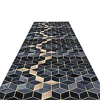 廊下敷きマット ランナー 厚い廊下のランナーラグ、ホテルのキッチンホールの廊下の入り口、幾何学模様のモダンな滑り止めの洗える長いランナー (Color : Style A, Size : 1×6m)
