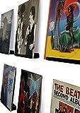 Hudson Hi-Fiウォールマウントビニールレコードディスプレイシェルフ-スタイリッシュにLPレコードを飾ってみましょう。ブラックサテン仕上げスティール、1つ入り