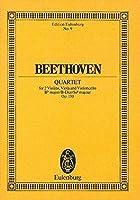 String Quartet Op. 130 B Flat (Edition Eulenburg)
