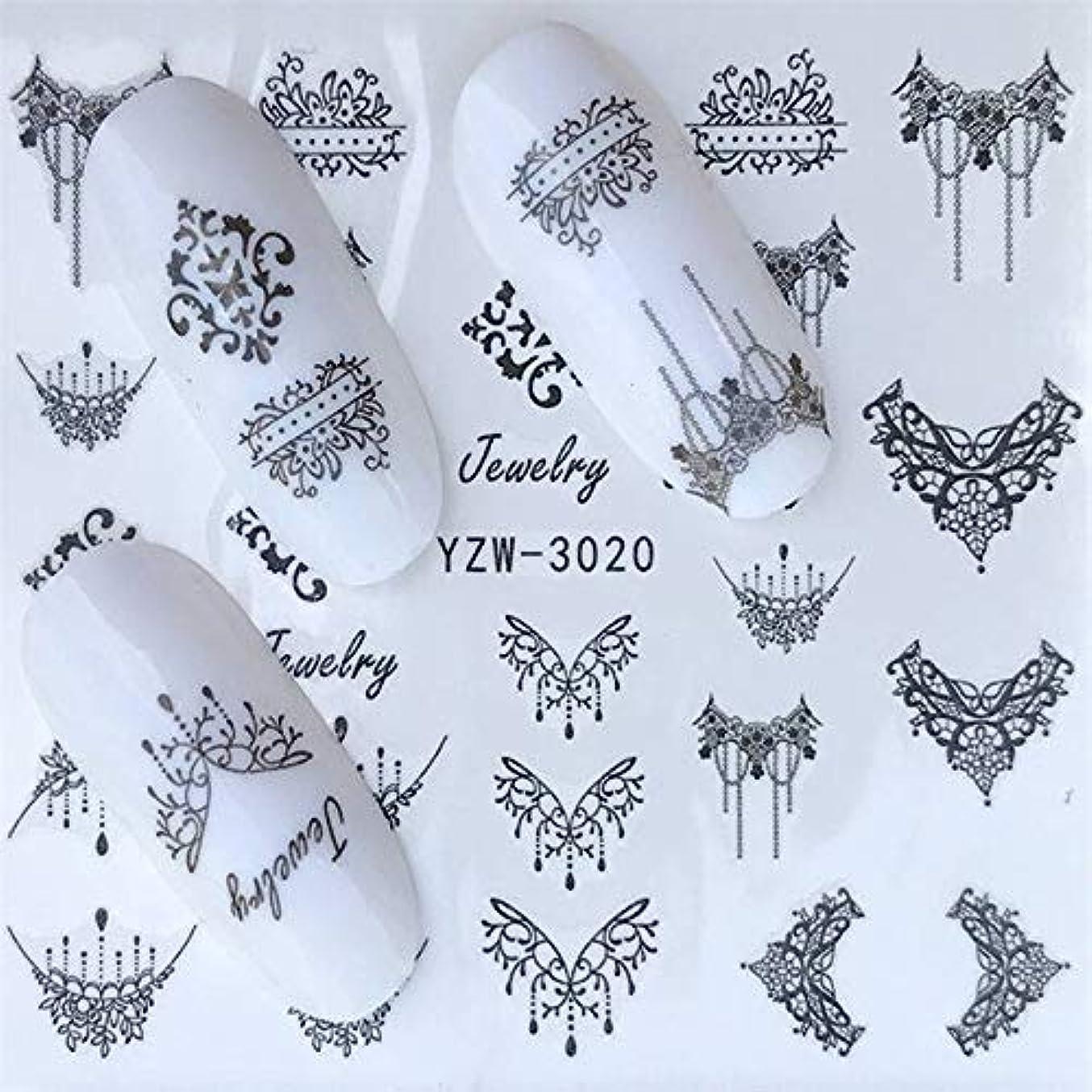 発火する話をするパステルSUKTI&XIAO ネイルステッカー 30スタイルネイルステッカー夏カラフルなデザイン水転写デカールネイルアートの装飾美容のヒント
