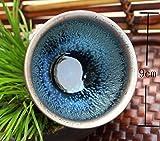 曜変 天目 茶碗 抹茶碗 手作り 窯作 建盞 和食器 酒器 料亭 (HF-3778)
