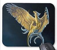 精密な継ぎ目、丈夫なゲームマウスパッド、Mousped Dragonは、羽の柄のマウスパッドで