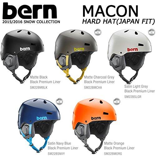 15-16 bern バーン ヘルメット MACON HARD HAT メーコン ジャパンフィット ウインターモデル 正規品 (MatteCharcoalGrey, US_XXL(JPN_L))