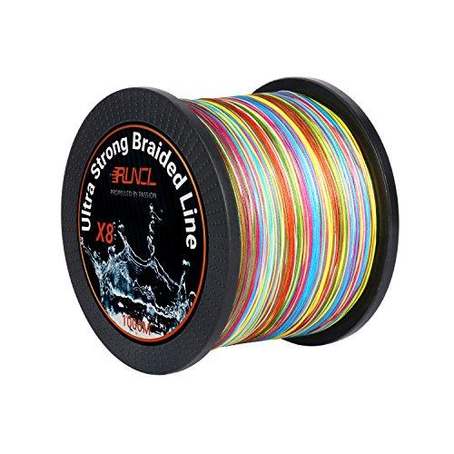 ランケル(RUNCL)PEライン 釣り糸 8編 5色 マルチカラー100m 300m 500m 1000m【 0.4号 ー12号 】高強度 高感度 高飛距離 釣りライン バス釣りライン 投げ釣り エギング
