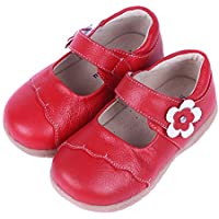SandQ baby Girls Red Leather Mary Jane (Ages 1.5 to 2.5 yrs)