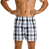 Mitch Dowd Men's Underwear Pickett Check Soft Wash Yarn Dye Cotton Boxer