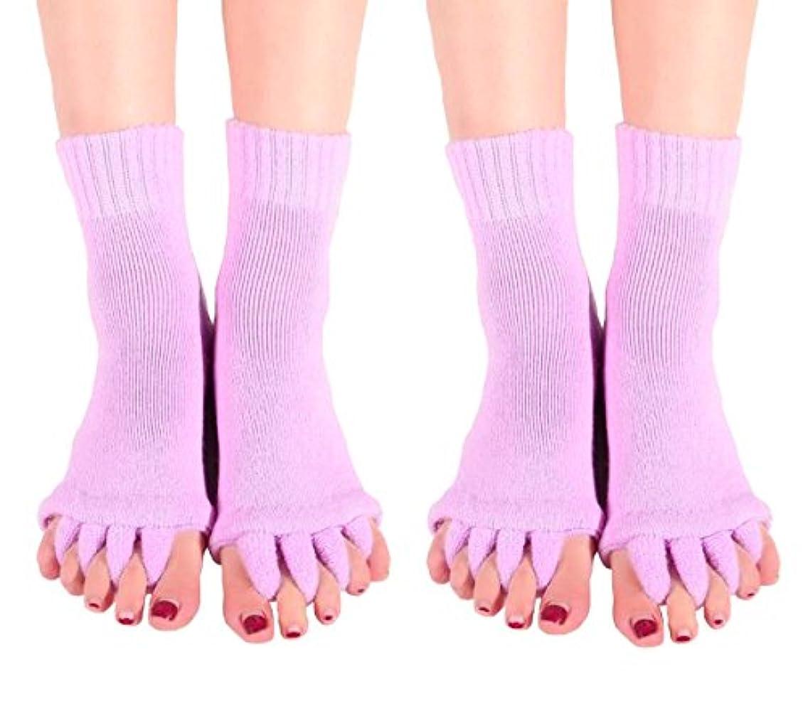 【AMARISE】スリーピングソックス 足指全開 足指ストレッチ 足指ソックス 足指のばし 男女兼用