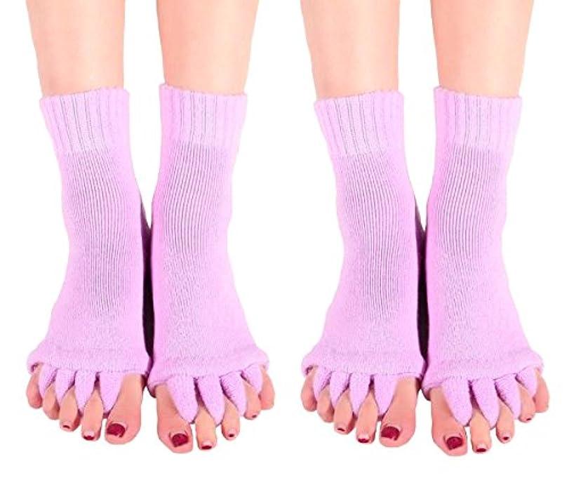 記事密保護【AMARISE】スリーピングソックス 足指全開 足指ストレッチ 足指ソックス 足指のばし 男女兼用