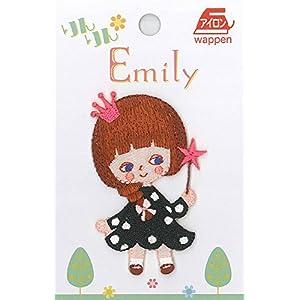 いろはism りんりん*Emily ワッペン 1枚入 BABY's DOLL 水玉ワンピースの女の子 BB400-BB101