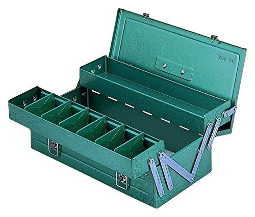 リングスター 2段式ボックス スチール製 グリーン RSD-470 【L470×W200×H150mm】