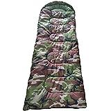 GBT 寝袋 夏用 封筒型 (カモフラ柄) 耐寒0℃ シュラフ 携帯 軽量 キャンプ アウトドア 車中泊コンパクト収納!180cm+30cm×75cm