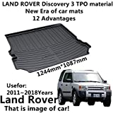 Car Mat Car Trunk Mat Use for Landrover Discovery 3 2011-2018 Years TPO Material Rubber Rear Trunk Cargo Liner Trunk Tray Floor Mat Cover 1 PCS Antibacterial, Waterproof, Odorless