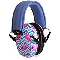 Muted Designer Hearing Protection for Infants & Kids - Adjustable Children's Ear Muffs from Toddler to Teen - Flamingo-go